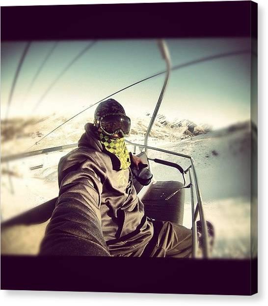 Snowboarding Canvas Print - #snowboard #mountain #snow #instagood by Cesar D Romero