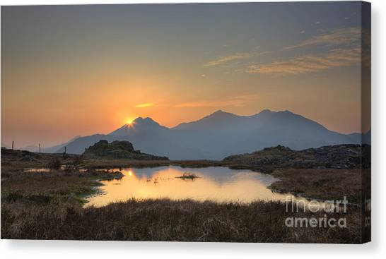 Moel Siabod Canvas Print - Snowdon From Siabod by Rory Trappe