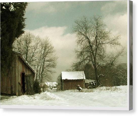 Snowy Day Canvas Print