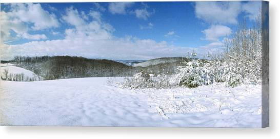 Snowy Hill Canvas Print by Jan W Faul