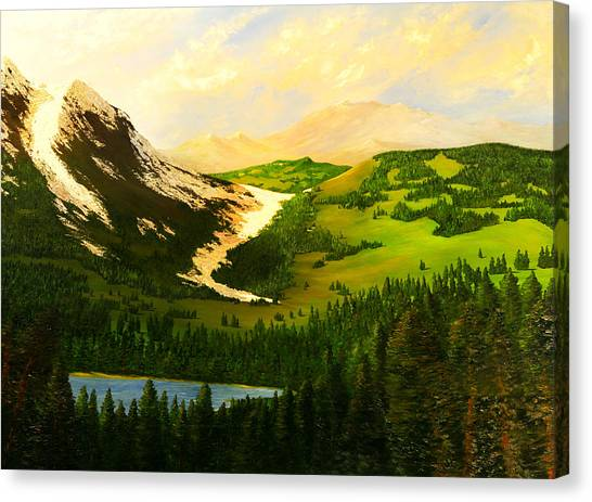 Snowy Mountain Canvas Print by Nelson
