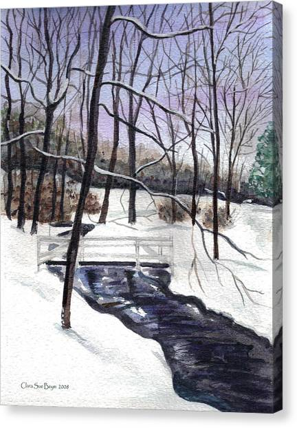 Snowy Shawnee Stream Canvas Print