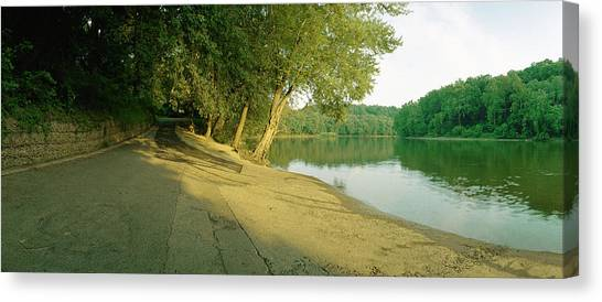 Snyders Landing On The Potomac Canvas Print by Jan W Faul