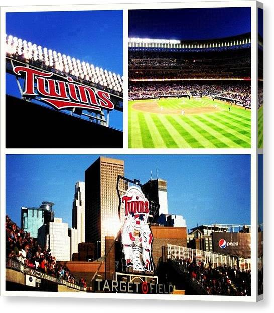 Minnesota Twins Canvas Print - So Ready For Baseball. #minnesota #twins by Jen Hernandez