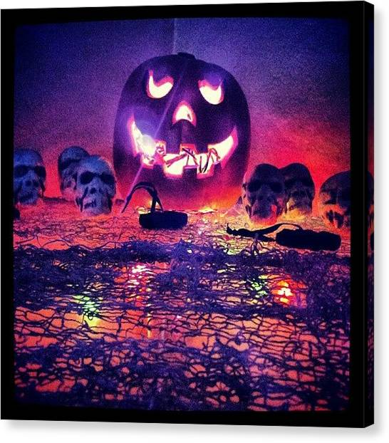 Pumpkins Canvas Print - So Ready For Halloween ! by Mandy Shupp