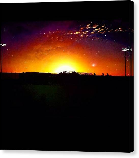 Soccer Teams Canvas Print - Soccer And Sunsets With @ore_aderibigbe by Temidayo Aderibigbe
