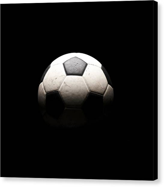 Soccer Canvas Print - Soccer Ball In Shadows by Thomas Northcut