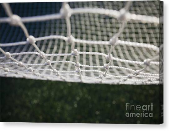 Soccer Canvas Print - Soccer Net by Paul Edmondson
