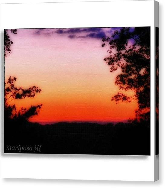 Edit Canvas Print - Soft Sunset In The Smokies by Mari Posa