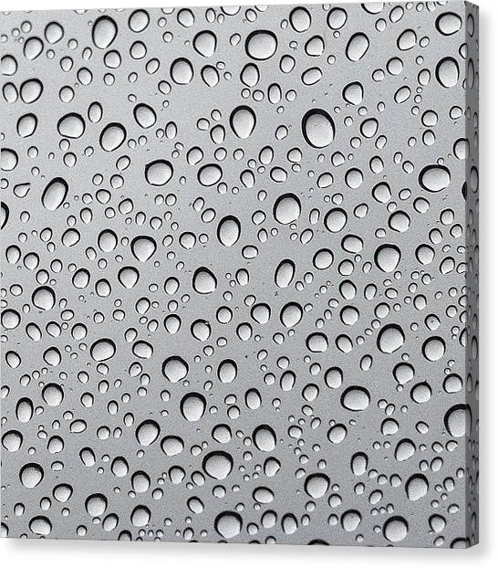 Rain Canvas Print - Softly The Rain Falls On Glass...subtly by Amber Flowers