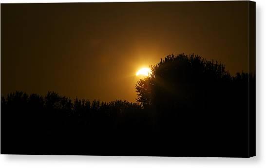 Solar Eclipse Sunset Canvas Print