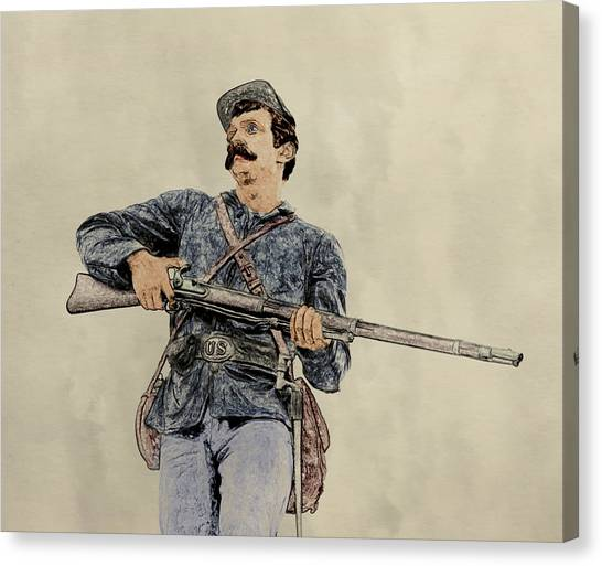 Army Of The Potomac Canvas Print - Soldier Of Gettysburg by Randy Steele