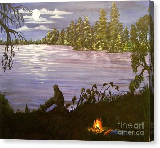 Solitude Canvas Print by Lisa Golem