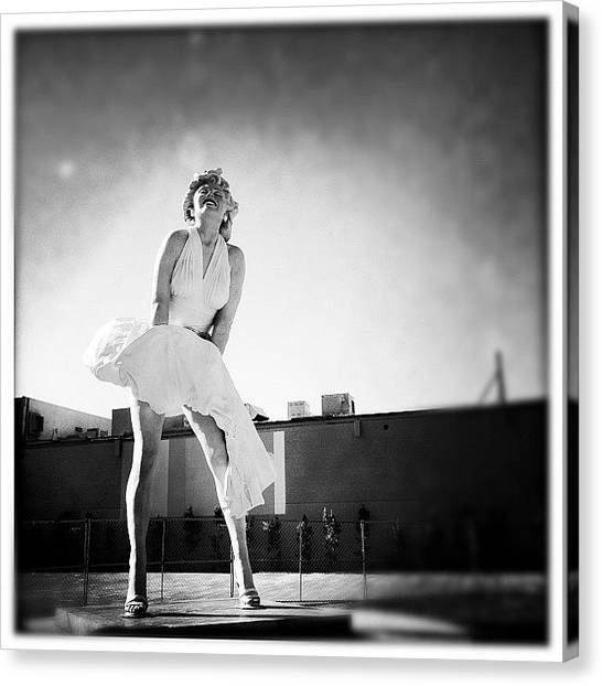 Marilyn Monroe Canvas Print - Some Like It Hot by Kim Peeples