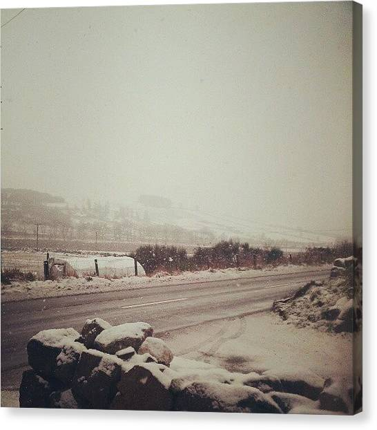 Snowflakes Canvas Print - Some Mahoosive Flakes Have Started To by Vhairi Walker
