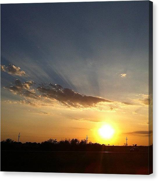Sunset Horizon Canvas Print - Some Things Never Disappoint. #sunset by Deb Lew
