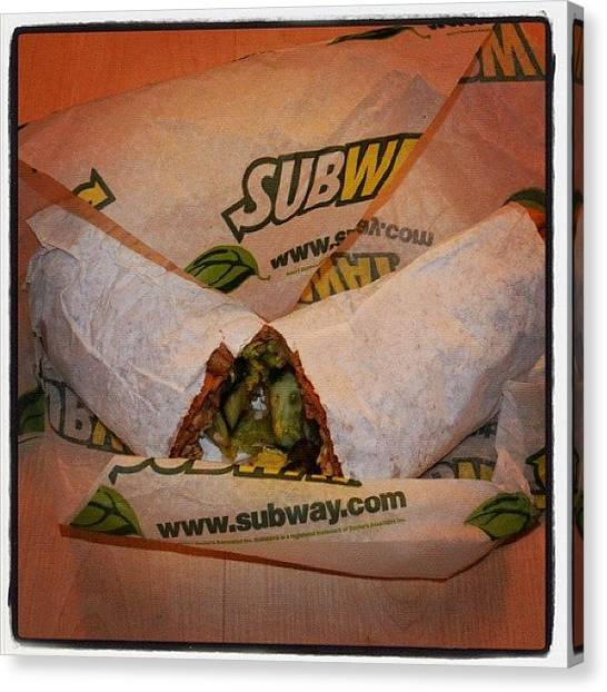 Sandwich Canvas Print - Some Times A Take Out Is Needed by Richard Randall