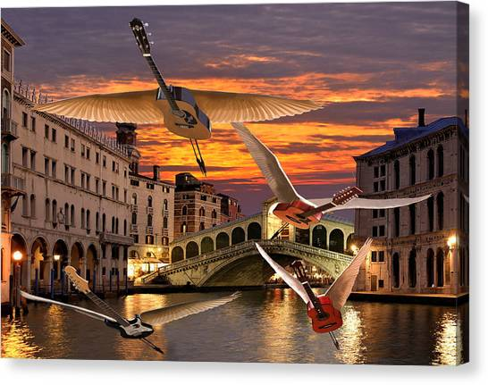 Canvas Print featuring the digital art Someone Like You Rocks by Eric Kempson
