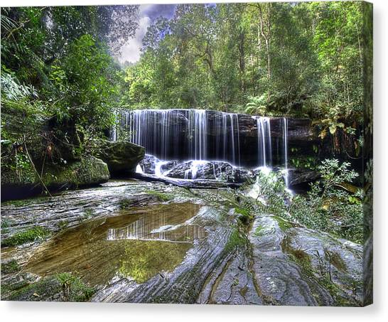 Somersby Falls Canvas Print by Barry Culling