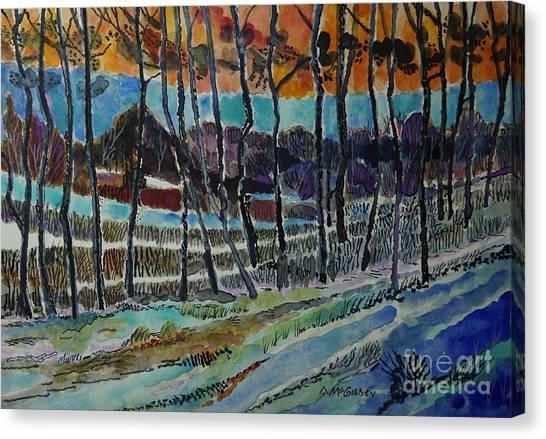 Somerset Pa Snow Scene 2 Canvas Print by Donald McGibbon
