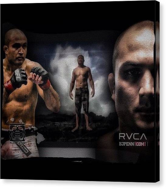 Fighting Canvas Print - Something Special I Put Together For My by Rj Kaneao
