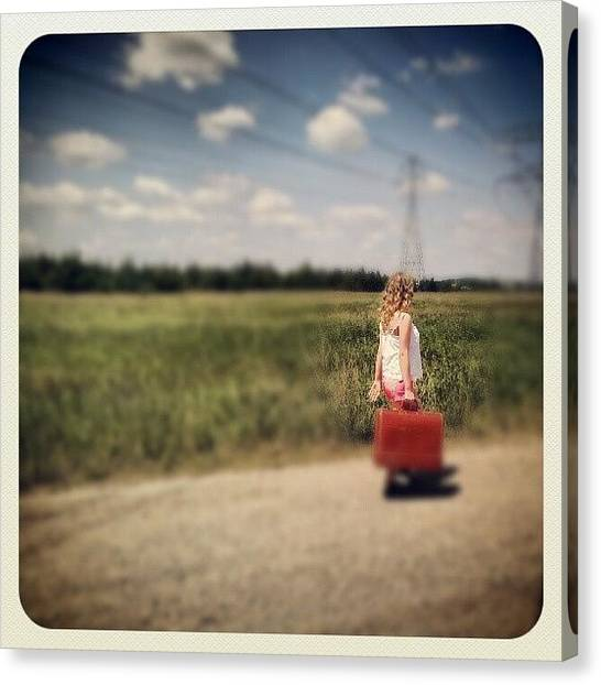 Dirt Road Canvas Print - Sometimes It's Best To Take The Road by Trina H