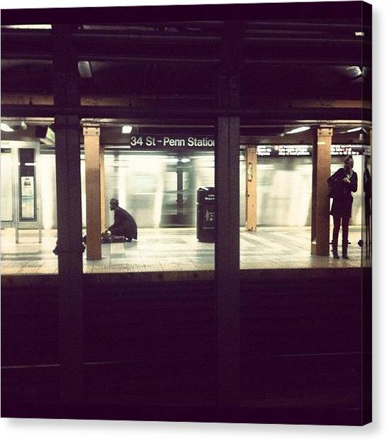 Trainspotting Canvas Print - Sometimes The #subway Isn't That Bad by Naeema Campbell