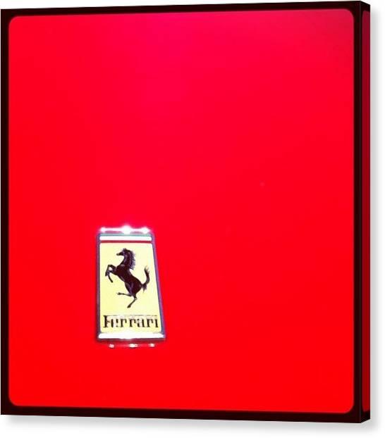 Ferrari Canvas Print - Somiar Avui Ha Sigut Gratis by Raul Garcia Gonzalez
