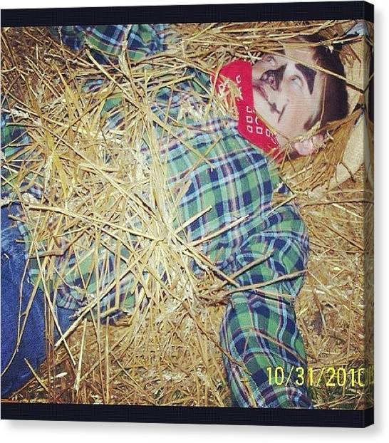 Scarecrows Canvas Print - #son #scarecrow #dead #silly He Said He by S Smithee