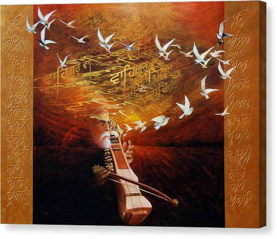 Song Of The Sunset Canvas Print by S Jaswant