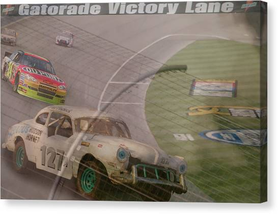 Racecar Drivers Canvas Print - sorry Jeff by Bill Dutting