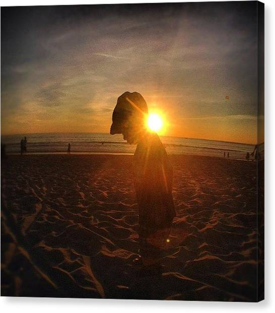 Mac Canvas Print - Soul Sun Water | #venice #beach #la by Tony Macasaet