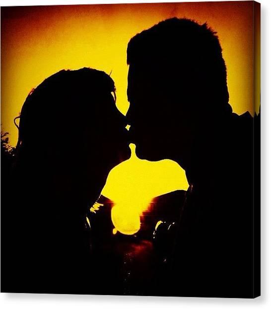 Kiss Canvas Print - Soulmates by Rick  Annette