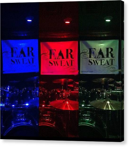 Percussion Instruments Canvas Print - Sound Check. @earsweat @thebluntclub by Guy Owens