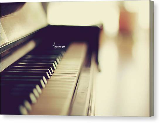 Pianos Canvas Print - Sound Of Piano by Christian.plochacki