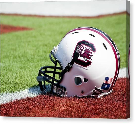 Sec Canvas Print - South Carolina Helmet by Replay Photos