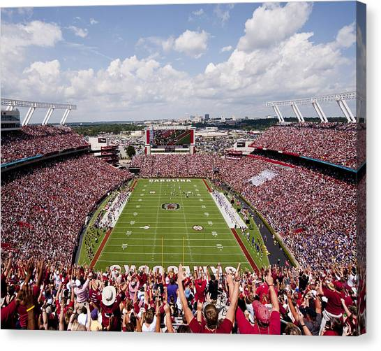 Sec Canvas Print - South Carolina View From The Endzone At Williams Brice Stadium by Replay Photos