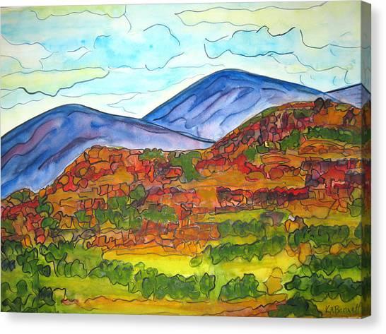 South Mesa Dark Canvas Print
