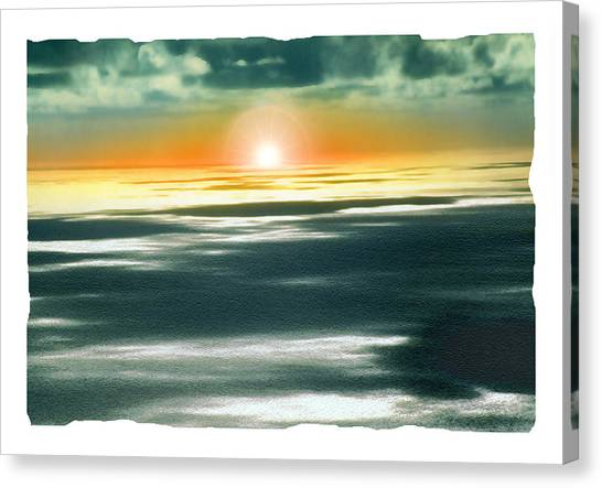 South Pacific Sunset Canvas Print by Noah Brooks