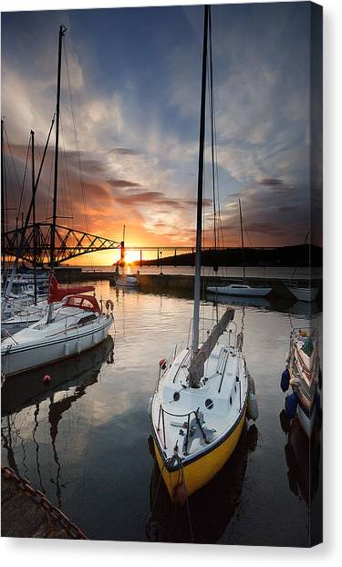 South Queensferry Harbour Canvas Print by Keith Thorburn LRPS AFIAP CPAGB