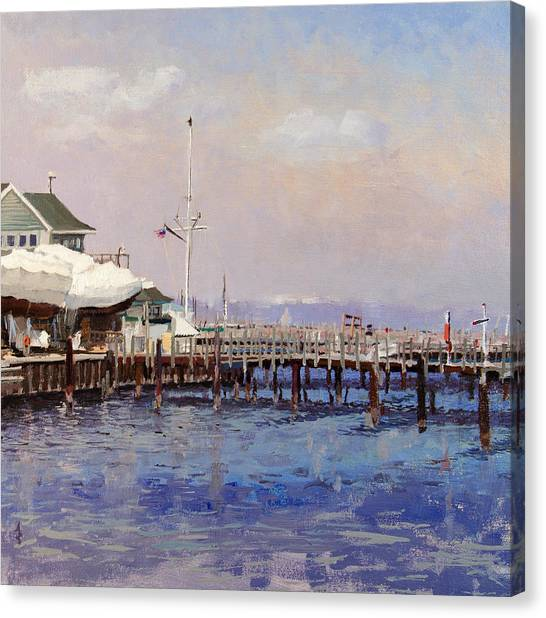 South Shore Marina Canvas Print by Anthony Sell