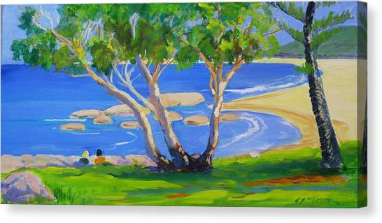 Canvas Print featuring the painting South West Rocks 2 by Virginia Mcgowan