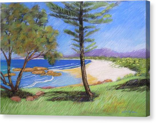 Canvas Print featuring the painting South West Rocks Number 3 by Virginia Mcgowan