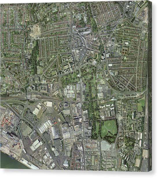 Southampton,uk, Aerial Image Canvas Print by Getmapping Plc