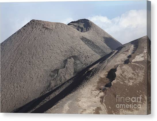 Mount Etna Canvas Print - Southeast Crater Of Mount Etna Volcano by Richard Roscoe
