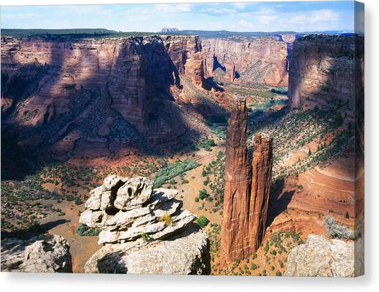 Southwest Canyon  Canvas Print by George Oze