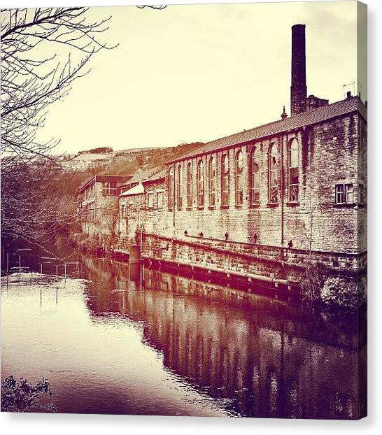 Victorian Canvas Print - Sowerby Bridge, View From The Bridge by Tim Brown