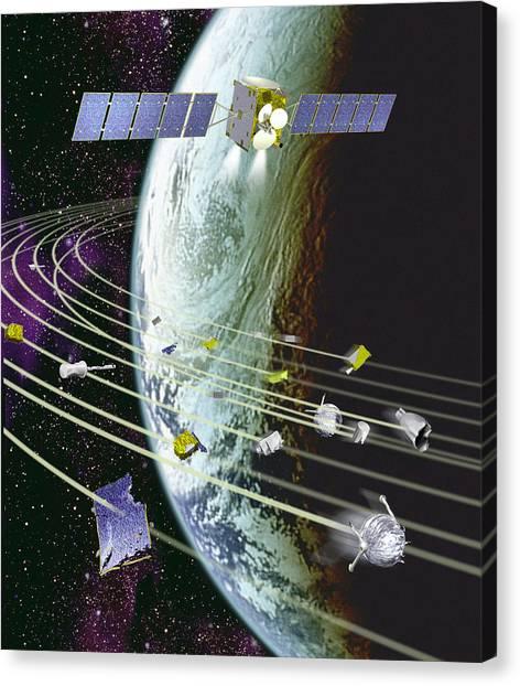 Space Debris Canvas Print by David Ducros