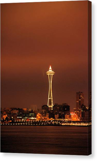 Space Needle Morning Canvas Print