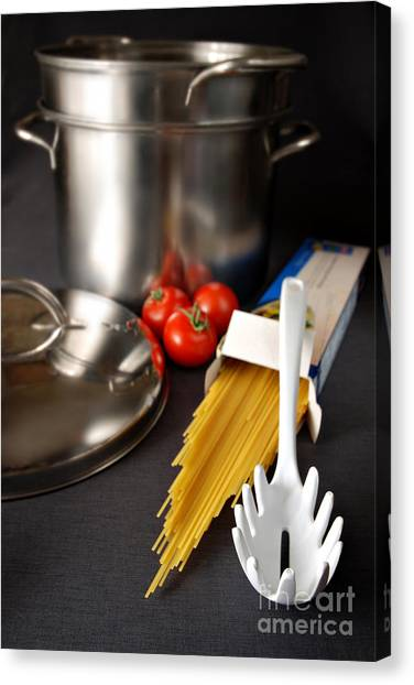 Spaghetti Canvas Print - Spaghetti by HD Connelly